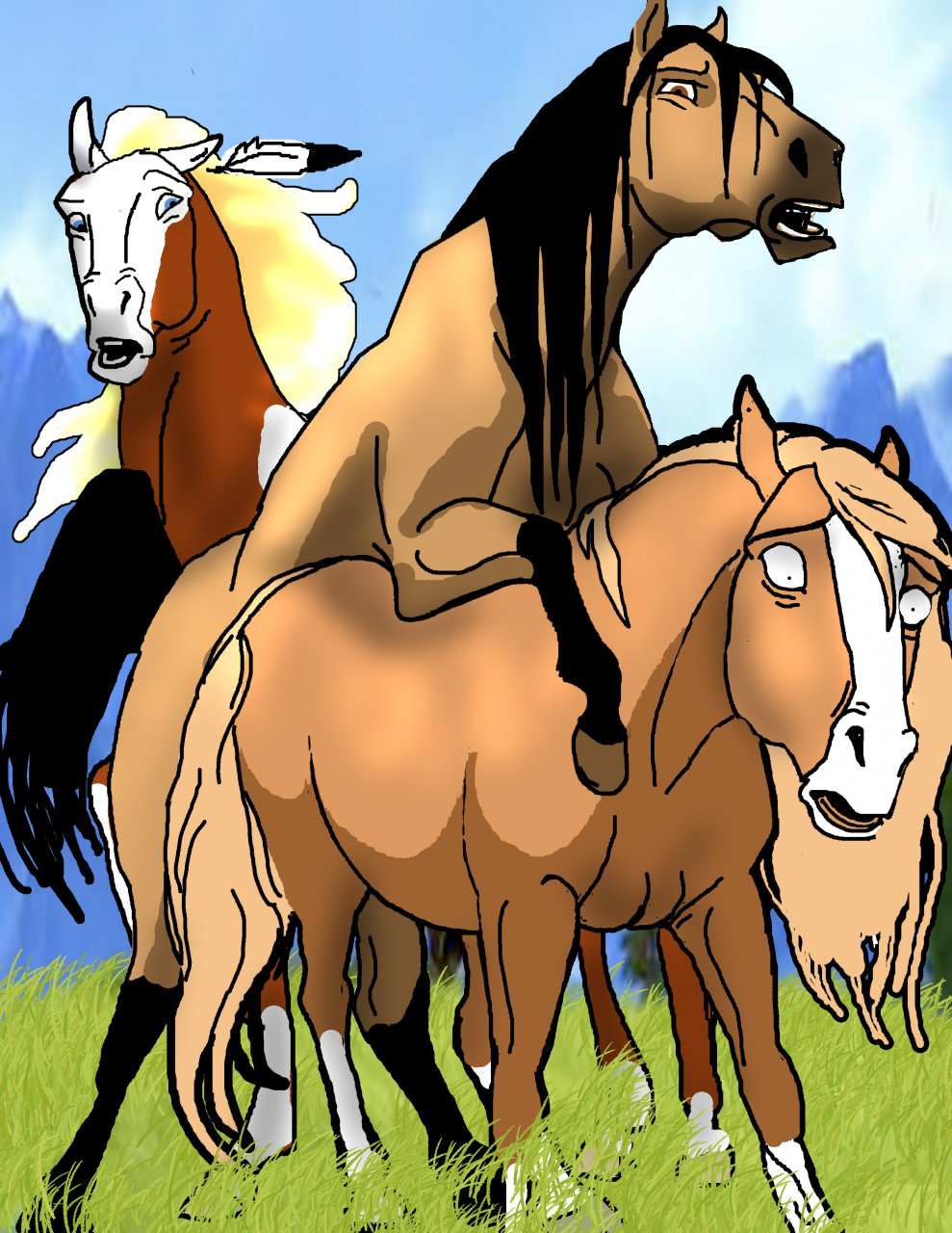 spirit the cimarron rain of stallion Stay out of the house puppet combo